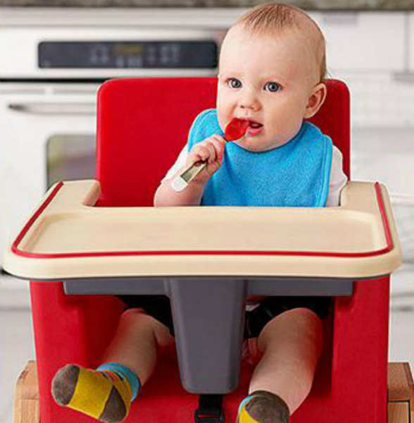 Not strapping your baby in a high chair