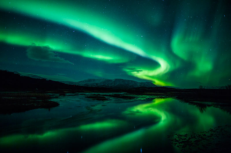 The Aurora Borealis Can Be Seen from 640 Km above Earth