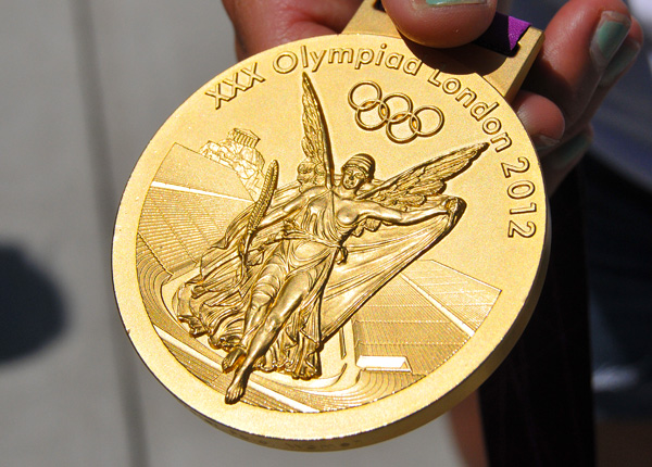 The Olympic gold medal is not all gold