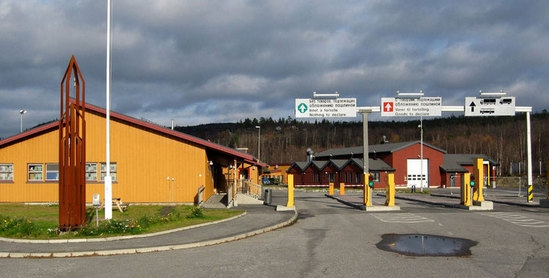 The checkpoint between Russia and Norway