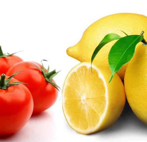 Tomatoes and lemon