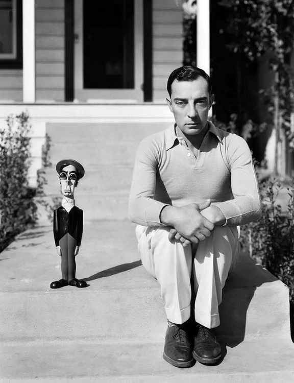 Buster Keaton and a look-alike