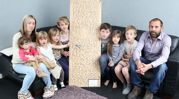 Family finds a secret message at the back side of the mirror written by their late Daughter
