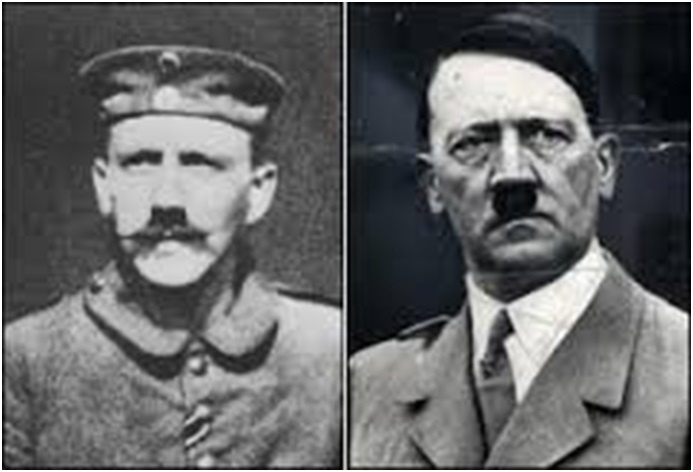 Hitler was also ordered to trim his moustache