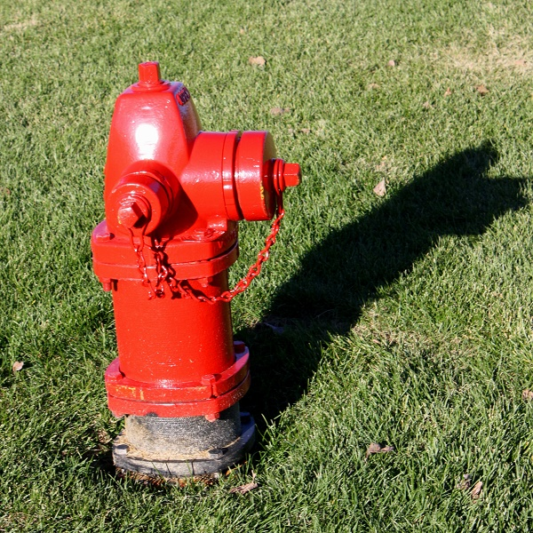 The fire hydrant is out of service