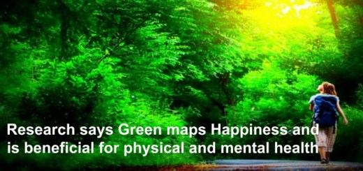 Research says Green maps Happiness and is beneficial for physical and mental health