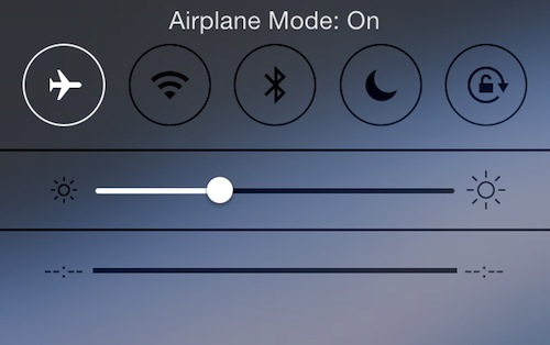 iPhone in airplane mode