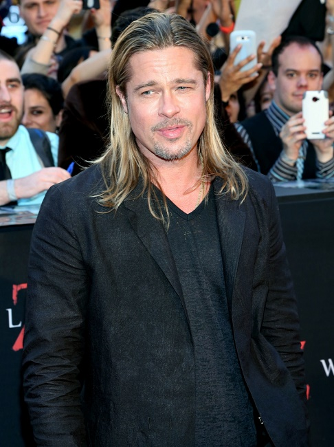 Brad Pitt – doesn't like showers