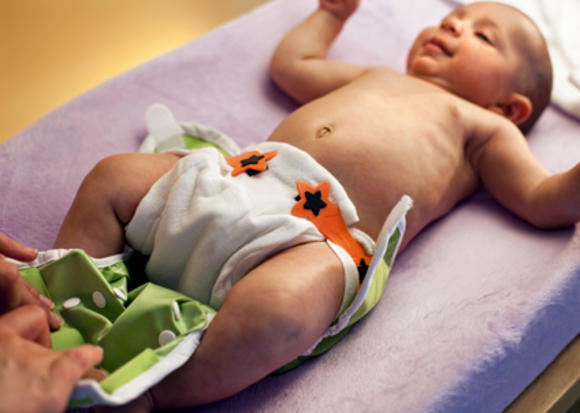 Changing baby cloths