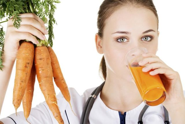 Consume carrot juice