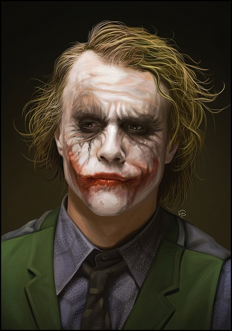 makeup design was by Ledger himself