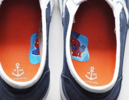 Stickers in shoes