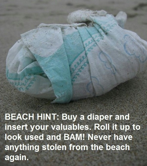 Protecting valuables at the beach
