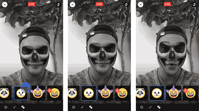 how to Animate Live Videos with Masks on facebook