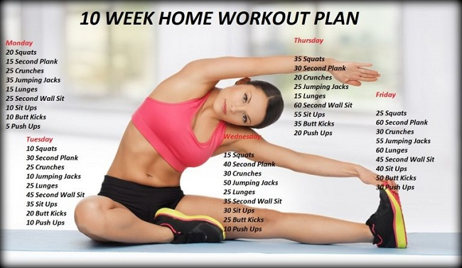 Friday home workout