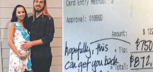 She has never seen her boyfriend's family but then a stranger writes a note about them