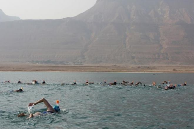 swimming in dead sea