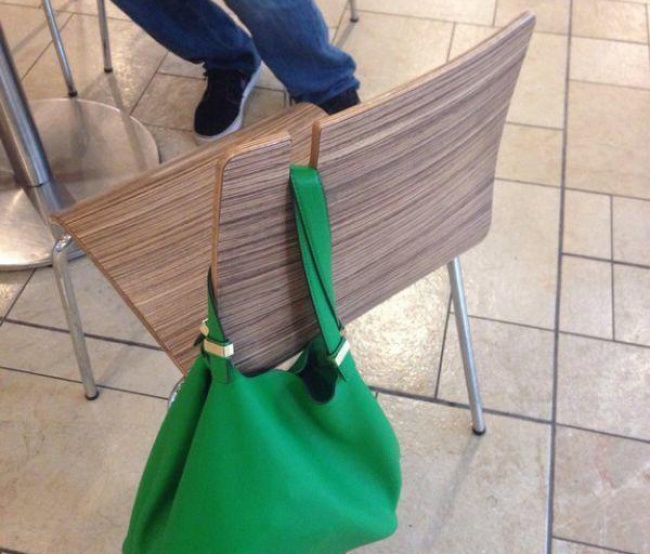 chair that holds your bag