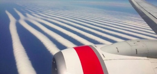 An Australian man has photographed mega chemtrails that have gone viral for negative reasons