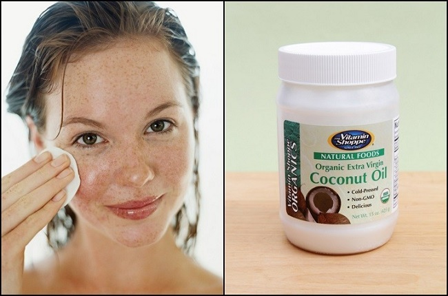 Coconut oil skin treatment