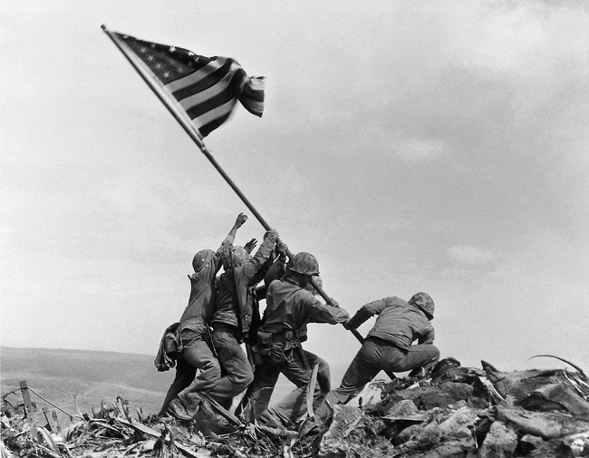 Flag rising at Iwo Jima