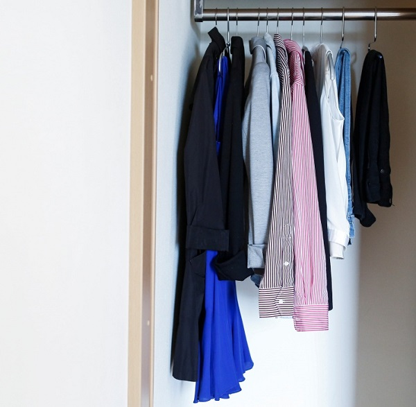 Only regular clothes in wardrobes