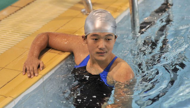 Qian became the national Paralympics' champion in a swimming