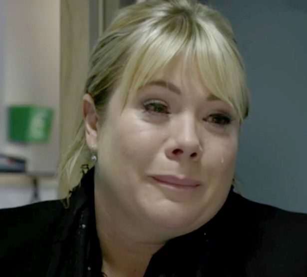 Sharon sobs while telling Phil