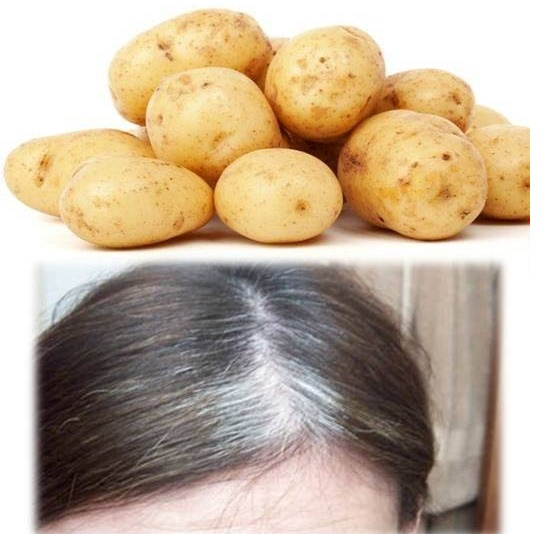 Use potatoes to get rid of white hair