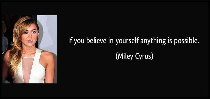 You Believe In Yourself
