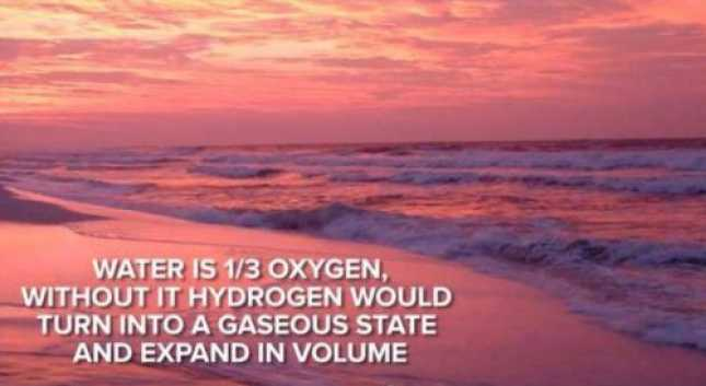 Hydrogen in water would expand