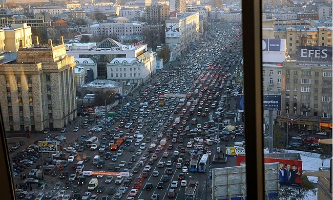 Rush hour Moscow, Russia