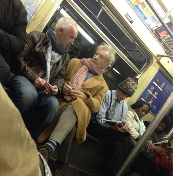 Sharing the subway with Gandalf and Magneto