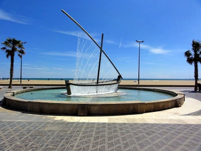 Water Boat Fountain, Spain