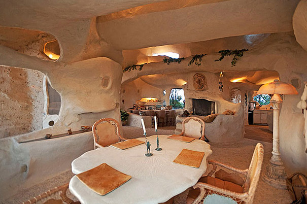 A rock home inside view