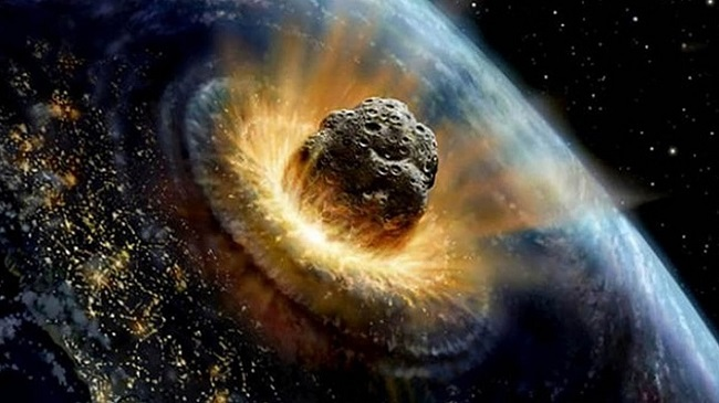 Collision with Asteroid
