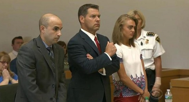 Michelle Carter with Legal team