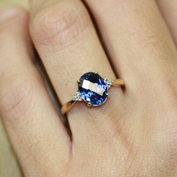 Sapphire in a wedding ring