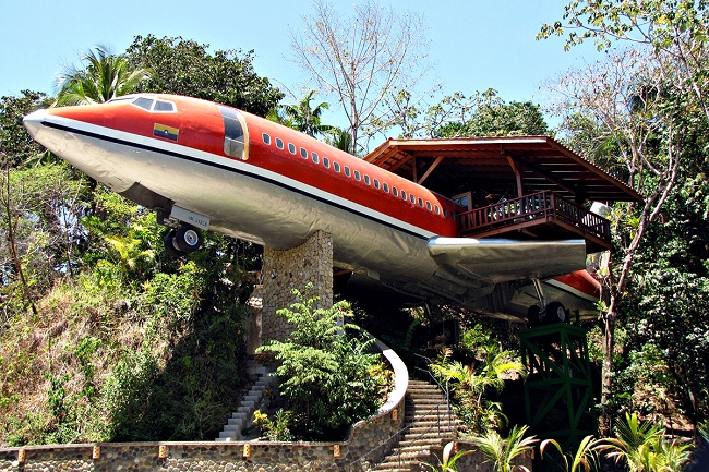 converted an airliner into a deluxe luxury hotel