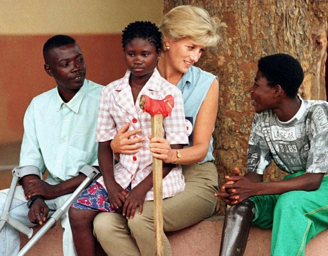 Princess Diana also fought against landmines