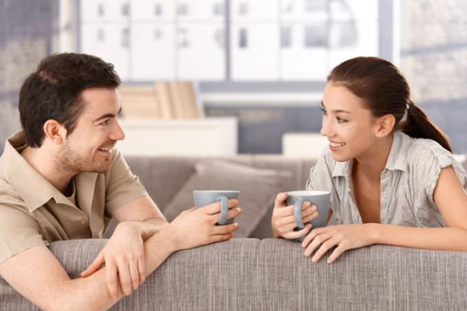 couple having coffee together