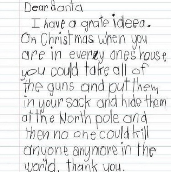 kids writing letter to santa