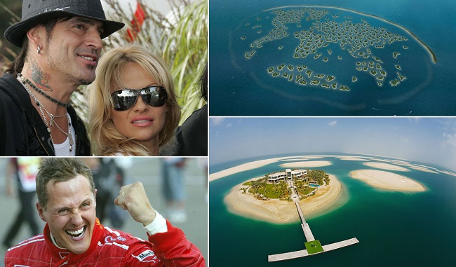 Tommy Lee and Pamela Anderson islands