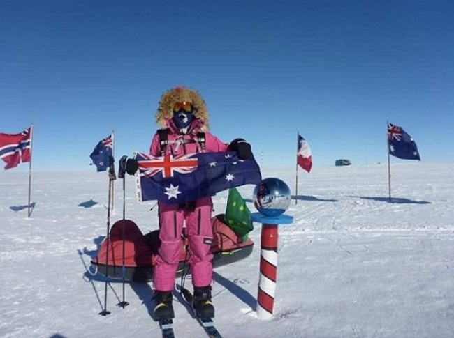 Hameister skied back to the Pole