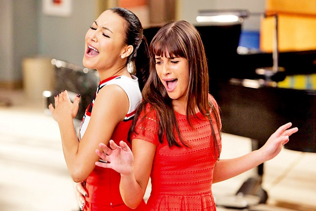 Lea Michele and Naya Rivera