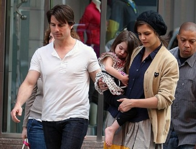 suri cruise with parents