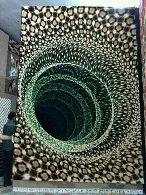 A carpet that looks like wormhole