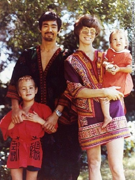 Bruce Lee and his family