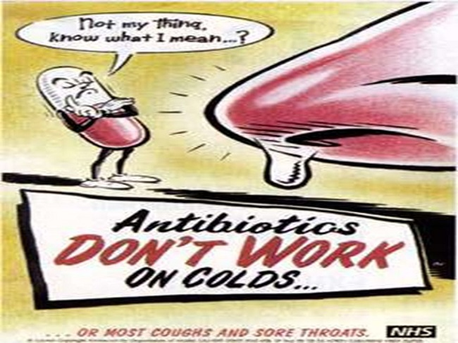 Treat cold with antibiotics
