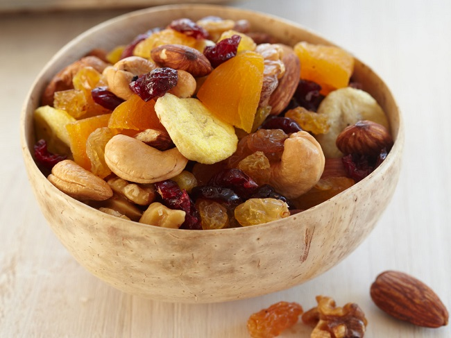 Start eating nuts and dried fruit